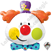 36 Inch Shape Cute Clown Foil Balloon Qualatex 1ct
