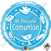 18 Inch Round Mi Primera Comunion (My First Communion) Foil Balloon Qualatex 1ct.