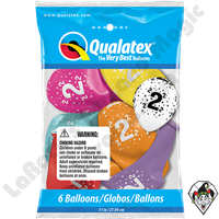 Qualatex Party Pack 11 Inch Round Stars #2-A-Round Assortment 6ct