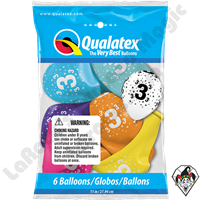 Qualatex Party Pack 11 Inch Round Stars #3-A-Round Assortment 6ct