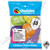 Qualatex Party Pack 11 Inch Round Assortment 13 Sparkle-A-Round 6ct