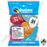 Qualatex Party Pack 11 Inch Round 21 Sparkle-A-Round Assortment 6ct