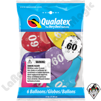 Qualatex Party Pack 11 Inch Round 60 Sparkle-A-Round Assortment 6ct