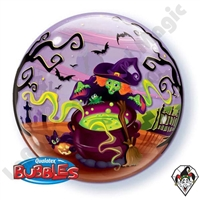 Qualatex 22 Inch Flying Witch Bubble Balloon 1ct