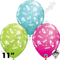 Qualatex 11 Inch Round Candies A Round Balloons 50ct
