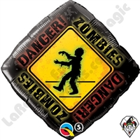 Qualatex 18 Inch Zombies Crossing Balloon 1ct
