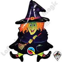 Qualatex 14 Inch Shape Wacky Witch Foil Balloon 1ct