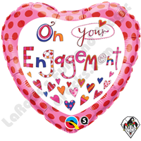 18 Inch Round Rachel Ellen - On Your Engagement Foil Balloon Qualatex 1ct