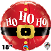 18 Inch Round Ho Ho Ho Santa's Belt Foil Balloon Qualatex 1ct