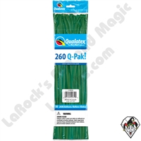 Qualatex 260Q-Pak Standard Green Balloons 50ct