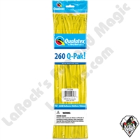Qualatex 260Q-Pak Standard Yellow Balloons 50ct