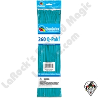 Qualatex 260Q-Pak Fashion Tropical Teal Balloons 50ct