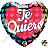18 Inch Heart Te Quiero Big Hearts Foil Balloon Qualatex 1ct