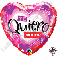 18 Inch Heart Te Quiero Radiant Hearts Foil Balloon Qualatex 1ct