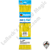 Qualatex-260Q Pak Jewel Citrine Yellow Balloons 50ct