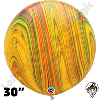 Qualatex 30 Inch Round Traditional Superagate Balloons 2ct