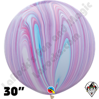 Qualatex 30 Inch Round Fashion Superagate Balloons 2ct