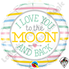 Qualatex 18 Inch Round I Love To The Moon and Back Foil Balloon 1ct