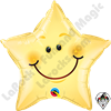 20 Inch Star Smiley Face Star Foil Balloon Qualatex 1ct