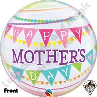 Bubble 22 Inch Mothers Day Pennants Qualatex 1ct