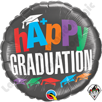 18 Inch Round A+ Graduation Foil Balloon Qualatex 1ct