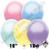 12 Inch Round Pearl Pastel Assortment Balloon Funsational 12ct