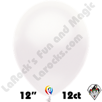 12 Inch Round Pearl White Balloon Funsational 12ct