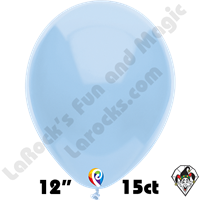 12 Inch Round Standard Baby Blue Balloon Funsational 15ct