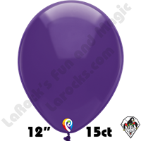 12 Inch Round Crystal Purple Balloon Funsational 15ct