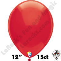 12 Inch Round Crystal Red Balloon Funsational 15ct