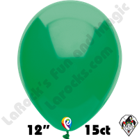 12 Inch Round Standard Green Balloon Funsational 15ct