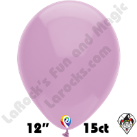12 Inch Round Pastel Lilac Balloon Funsational 15ct