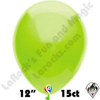 12 Inch Round Pastel Lime Green Balloon Funsational 15ct