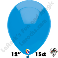 12 Inch Round Standard Ocean Blue Balloon Funsational 15ct