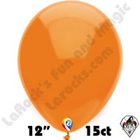 12 Inch Round Standard Orange Balloon Funsational 15ct