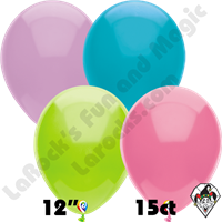12 Inch Round Pastel Assortment Balloon Funsational 15ct