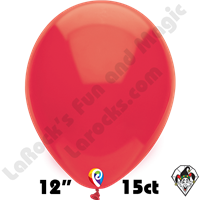 12 Inch Round Standard Red Balloon Funsational 15ct