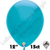 12 Inch Round Pastel Turquoise Balloon Funsational 15ct