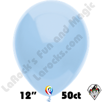 12 Inch Round Standard Baby Blue Balloon Funsational 50ct
