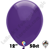 12 Inch Round Crystal Purple Balloon Funsational 50ct