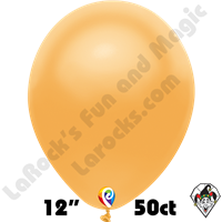 12 Inch Round Metallic Gold Balloon Funsational 50ct