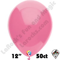 12 Inch Round Pastel Hot Pink Balloon Funsational 50ct