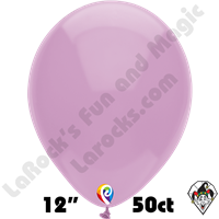 12 Inch Round Pastel Lilac Balloon Funsational 50ct