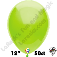 12 Inch Round Pastel Lime Green Balloon Funsational 50ct
