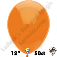 12 Inch Round Standard Orange Balloon Funsational 50ct