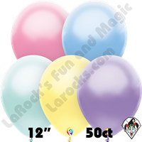 12 Inch Round Pearl Pastel Assortment Balloon Funsational 50ct