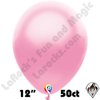 12 Inch Round Pearl Pink Balloon Funsational 50ct