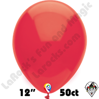12 Inch Round Standard Red Balloon Funsational 50ct