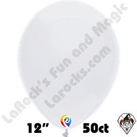 12 Inch Round Standard White Balloon Funsational 50ct