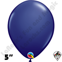 Qualatex 5 Inch Round Fashion Navy Blue Balloons 100ct